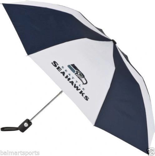 "Seattle Seahawks Umbrella 42"" Automatic Push Button NFL Licensed"