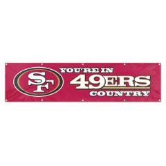 San Francisco 49ers 2' x 8' Wall Banner Flag NFL Licensed