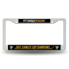 "Pittsburgh Penguins ""2017 Stanley Cup Champions"" License Plate Frame NHL"