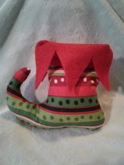Christmas Organic Catnip Elf Shoe