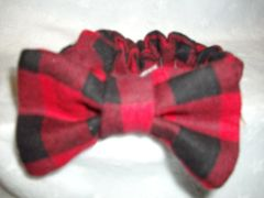 Cat Bow Ties with Attached Collar, Plaid Flannel Designs