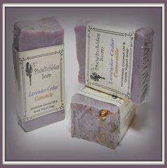 """Lavender Cedar & Camomile"" Coconut Oil Greek Yogurt Handmade Shea Butter Soap Bar"