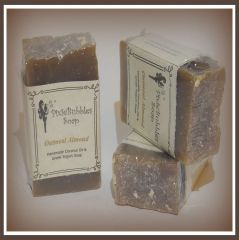 """Oatmeal Almond"" Coconut Oil Greek Yogurt Handmade Shea Butter Soap Bar"