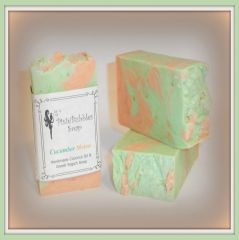"""Cucumber Melon"" Coconut Oil Greek Yogurt Handmade Shea Butter Soap Bar"
