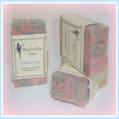 """Cotton Candy"" Coconut Oil Greek Yogurt Handmade Shea Butter Soap Bar"