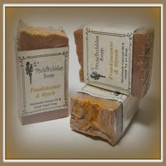"""Frankincense & Myrrh"" Coconut Oil Greek Yogurt Handmade Shea Butter Soap Bar"