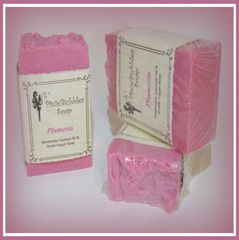 """Plumeria"" Coconut Oil & Greek Yogurt Handmade Shea Butter Soap Bar"