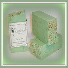 """""""Lime Zest"""" Coconut Oil Greek Yogurt Handmade Shea Butter Soap Bar"""
