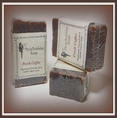 """Fresh Coffee"" Coconut Oil Greek Yogurt Handmade Shea Butter Exfoliating Soap Bar"