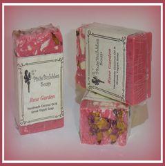 """Rose Garden"" Coconut Oil Greek Yogurt Handmade Shea Butter Soap Bar"