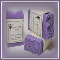 """Lush Lavender"" Coconut Oil Greek Yogurt Handmade Shea Butter Soap Bar"