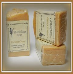 """Coconut Creme"" Coconut Oil Greek Yogurt Handmade Shea Butter Soap Bar"