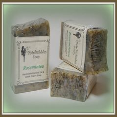 """Rosemintea"" Coconut Oil Greek Yogurt Handmade Shea Butter Soap Bar"