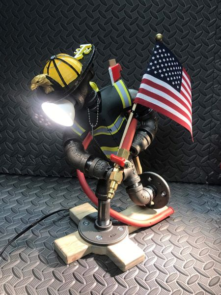 Fire Fighter Desk Lamp Steampunk Sportz Custom Lighting