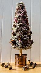 Cream Multi Fabric Christmas Tree - Large