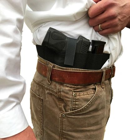 Side Draw Belly Band Gun Holster