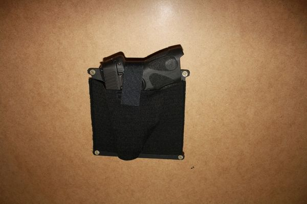Under The Desk, Counter, Dash or Anywhere Tactical Gun Holster Any Gun Anywhere