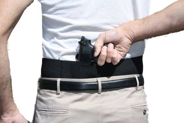 Behind the back belly band gun holster-Small of the Back
