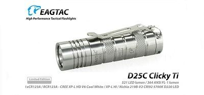 EagTac D25C MKII TITANIUM CLICKY