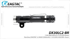 EagTac DX30LC2-BR, w/ Bike Mount (RECHARGEABLE)