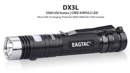 EagTac DX3L CLICKY Pro (RECHARGEABLE)