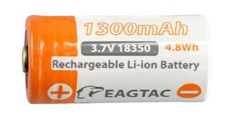 18350 1300mAh EagTac IMR LiMn Rechargeable Battery