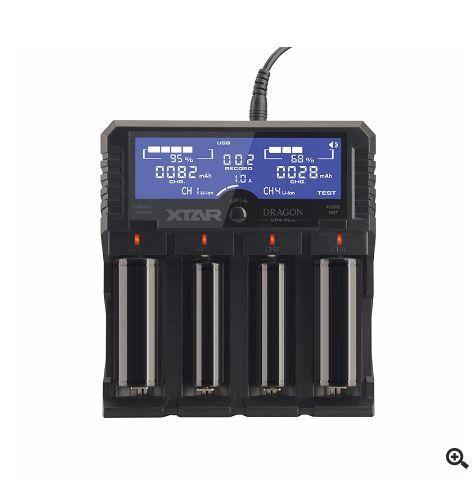 XTAR DRAGON VP4 PLUS Li-ion/NiMH/NiCD Intelligent Charger w/ AC & DC Cords