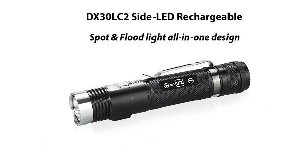 EagTac DX30LC2-SR, w/ SIDE LED (RECHARGEABLE)