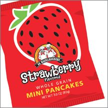 Strawberry Flavored Whole Grain MINI Pancakes