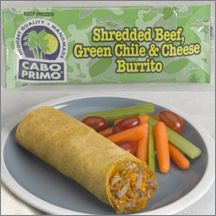 Los Cabos Shredded Beef & Cheese & Green Chili Burrito