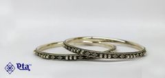 Silver fine rava bangles (Set of 2)