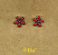 Silver floral studs
