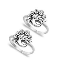 Silver mor toe ring