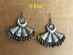 Silver tribal chandrika earring