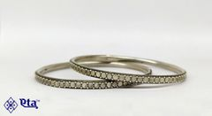 Silver tribal bangles (Set of 2)
