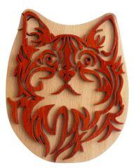 Cat Wooden Secret Puzzle Box