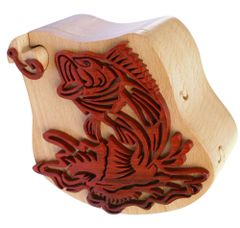 Bass & Hook Wooden Secret Puzzle Box