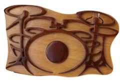 Drums Pic Box Wooden Secret Puzzle Box