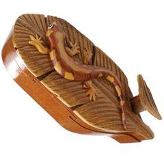 Salamander Handmade Intarsia Puzzle Box