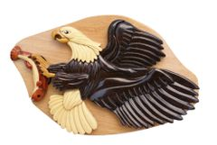 Fish Eagle Wooden Secret Puzzle Box