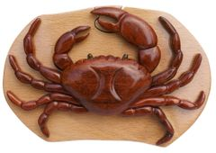 Opilio Crab Tribal Art Hand Made Puzzle Box