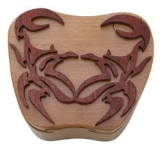 King Crab Wooden Secret Puzzle Box