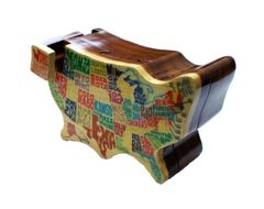 USA Wooden Secret Puzzle Box