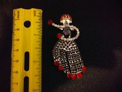 Rhinestone Red and Purple HULA Girl