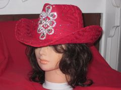 Cowboy Hat with tall Rhinestone Embellishment
