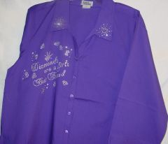 Purple Shirt - Diamonds are a Girl's Best Friend