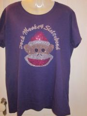 Sock Monkey Purple T-shirt
