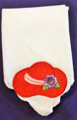 Linen Hanky with Red Hat