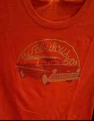 The Fabulous 50's car - Red or Purple T-shirt