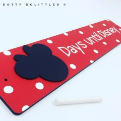 'Days until Disney' Wooden Sign - Ready to Post
